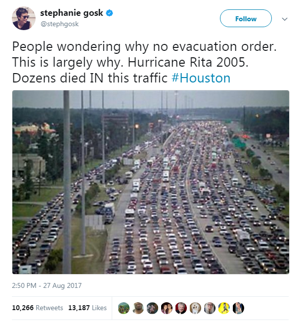 rita evacuation tweet